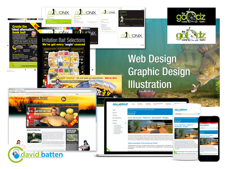 Illustration - Web design and Grapic Design services from David batten